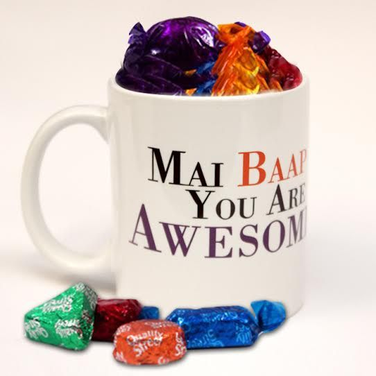Mai Baap Mug With Chocolates