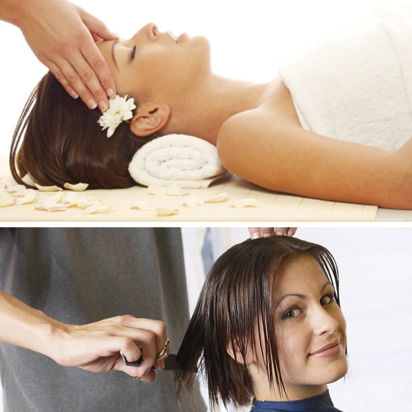 Massage With Hair Cut