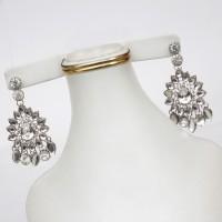 Oval shaped earrings