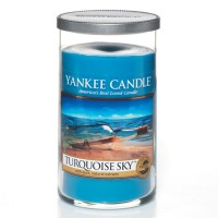 Turquoise Sky Candle Pillar