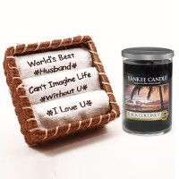 Best Husband Towel Set with Yankee Candle