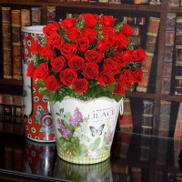 Love's Divine-Long Stemmed Red Roses