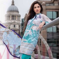 Gul Ahmed Green Self Texture Cotton Suit