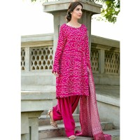 Pink Bamboo Silk Suit by Gul Ahmed