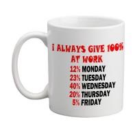 I Always Give 100% Mug