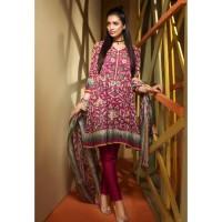 Magenta Festive Suit by Khaadi