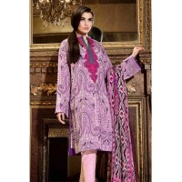 Purple Embroidered Suit by Gul Ahmed