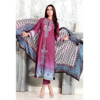 Maroon Trancia Suit by Gul Ahmed
