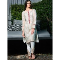 Gul Ahmed 2 Pcs Embroidered Suit