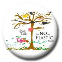 Button - Say No to Plastic Bags