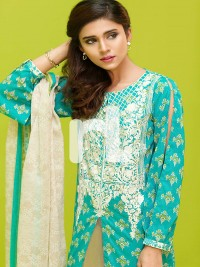 Sea Green Premium Embroidered Suit by NL