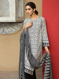 Black & White Digital Print Lawn Suit by Khaa