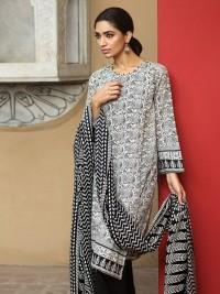 Khaadi Black & White Digital Print Lawn Suit