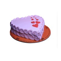 Purple Floral Heart Cake