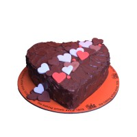 Colorful Little Hearts Chocolate Cake
