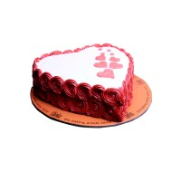 Red & White Hearts Cake