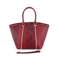 Beautiful Crocodile Maroon Handbag