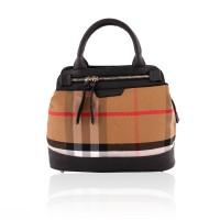 Classy Black & Brown Check Handbag