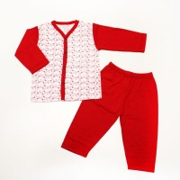 Face Print Baby Girl Suit