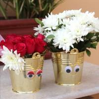 Mr. & Mrs. Flower Bucket