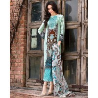 Gul Ahmed Embroidered Blue Lawn