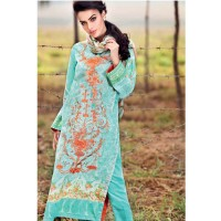 Gul Ahmed Green 3 Pcs Embroidered Lawn