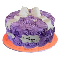 Purple Roses Mother's Day Cake