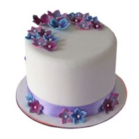 Floral Hat Cake By Sacha's Bakery