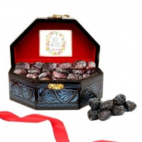 Ajwa Dates In Blue Treasure Box