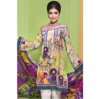 Gul Ahmed Green Digital Print Lawn Suit