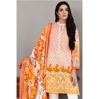 Gul Ahmed Peach Digital Print Lawn Suit
