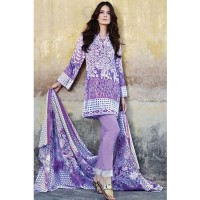 Gul Ahmed Purple & White Printed Lawn
