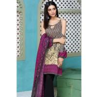 Khaadi Black & Magenta Printed Lawn Suit