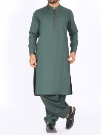 Olive Green Kurta Shalwar By J.