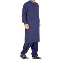 Blue Kurta Shalwar By J.