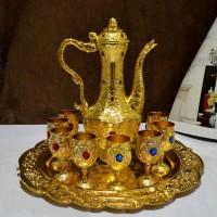 10 Pcs Stunning Metal Gold Kewa Set