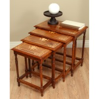 4 Wood Nesting Table Set