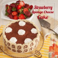 Strawberry Cheese Sponge Cake