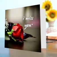 Miss You Card V