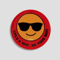 LIFE'S A TEST, DO YOUR BEST BADGE