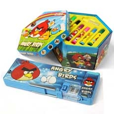 Angry Bird Marker With Stationary Box
