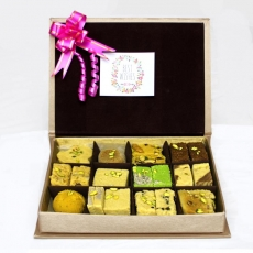 Golden Box of Sweetness - Mix Mithai